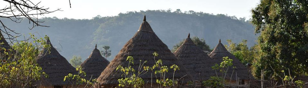 tipiques maisons Peul de Dindéféléo