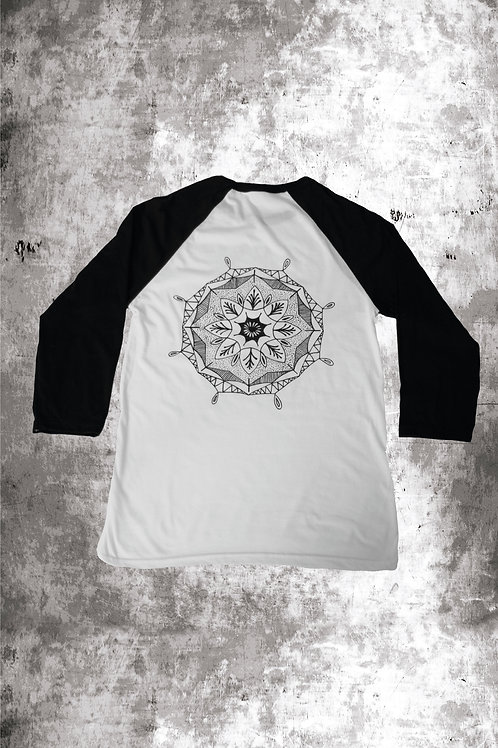 MANDALA BASEBALL - WHITE/BLACK