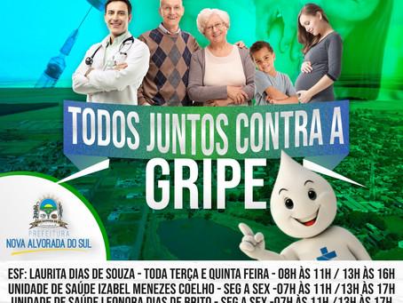 Prefeitura Municipal de Nova Alvorada do Sul inicia a Campanha de Vacinação contra a Influenza 2019