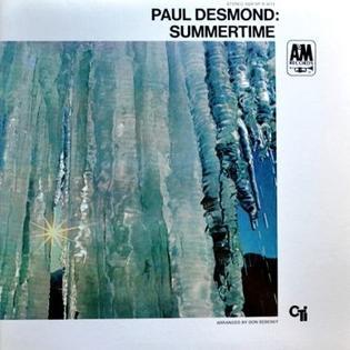 Paul Desmond Summertime Alto Saxophone Music