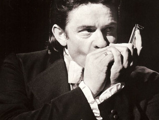 Johnny Cash Playing Harmonica