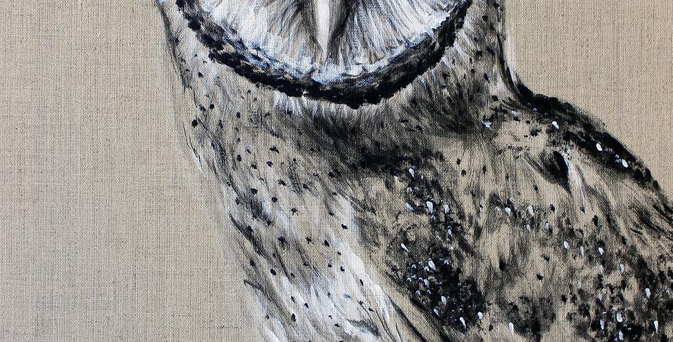 """Finn"" Owl Painting"