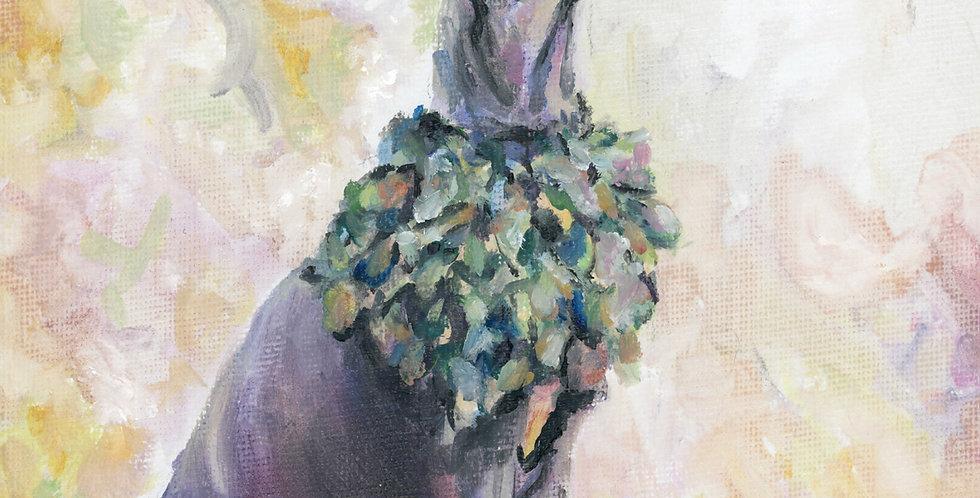 """""""Freya"""" oil painting pet portrait"""