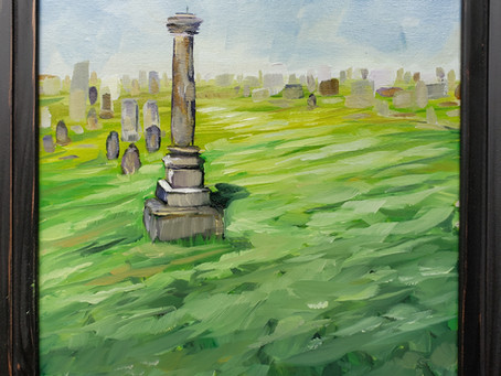 """""""Augusta Beloved"""" for the History Plein Air Paint Out and why I haven't painted with oils until now."""