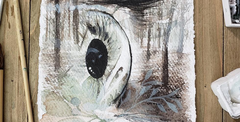 """Eye on Nature"" Watercolor Print"
