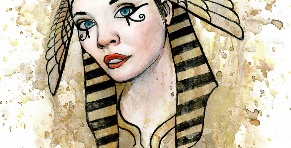 Egyptian Goddess Watercolor