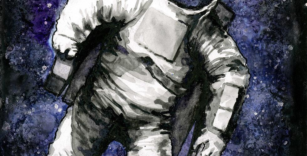 Spaaaaace! Astronaut Watercolor