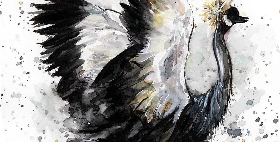 Crane Watercolor Painting