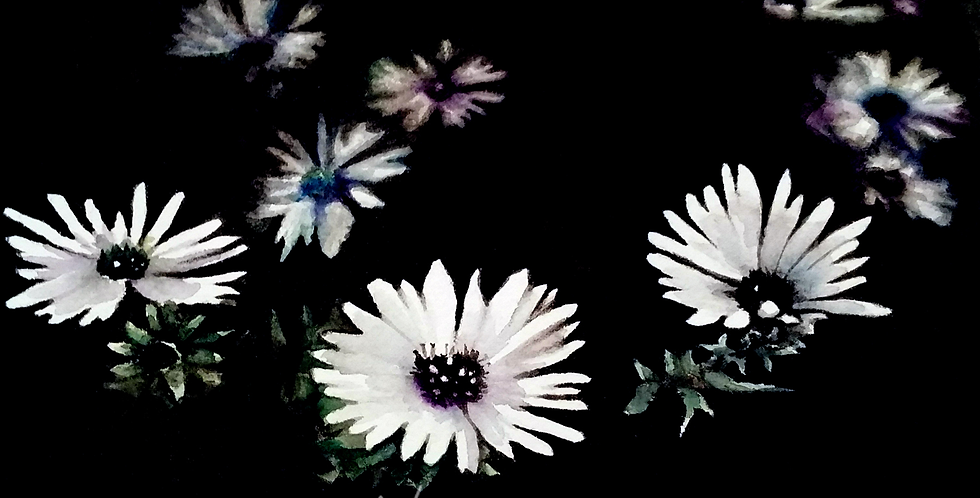 """""""For You"""" watercolor daisy painting 5""""x7"""" print only"""