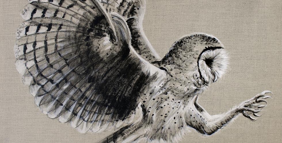 """""""Minerva"""" Owl Painting"""
