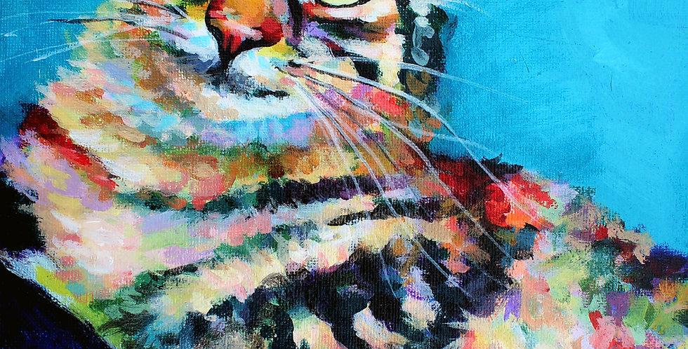 Thelma Cat Painting