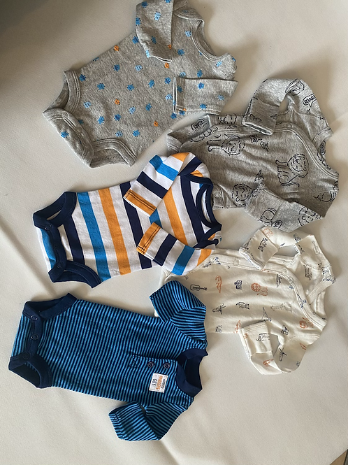 5 premmie boys rompers from USA