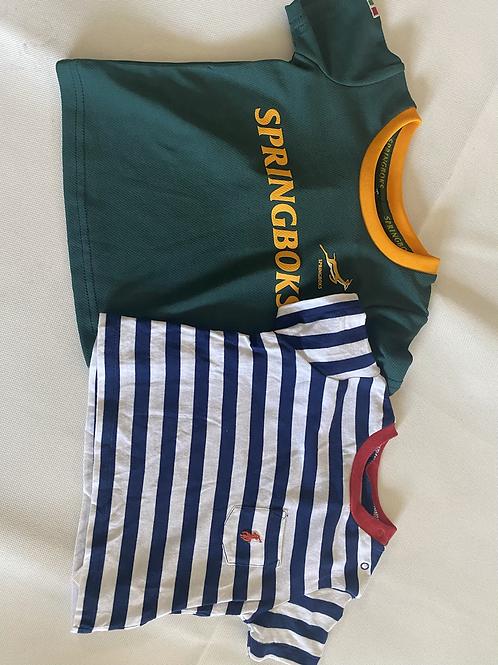 Boys T's Ralph Lauren and Springboks  3 Months