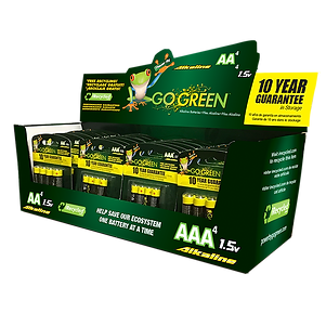 AA and AAA Alkaline battery display