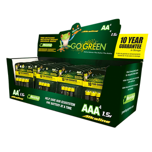 AA and AAA Alkaline battery display