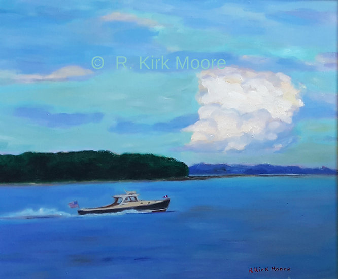 Picnic Boat And Clouds