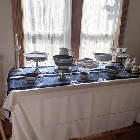 Serving area buffet table