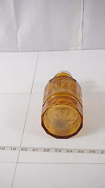 Amber Art Glass Perfume Bottle