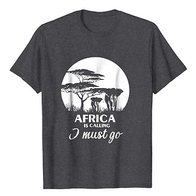 Africa is calling tshirt - Heather and W