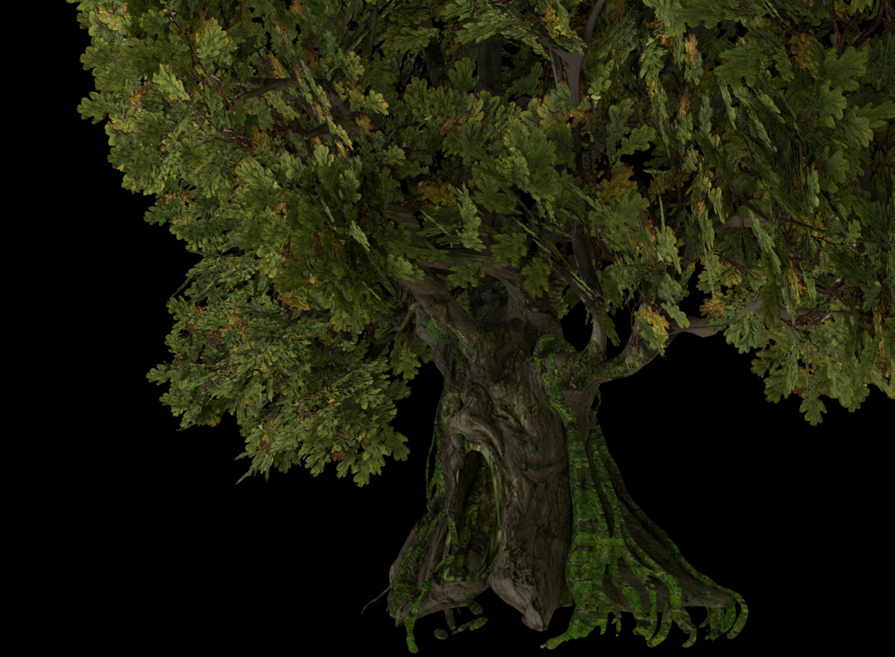 Old Ogre Tree -CG Model VFX shots