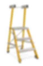 סולם מדרגות מתקפל מפיברגלס מקצוע