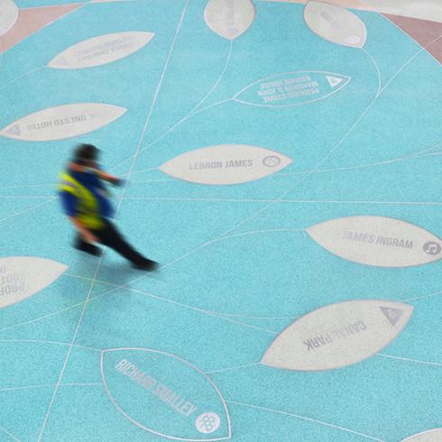 Akron-Canton Airport Atrium Floor