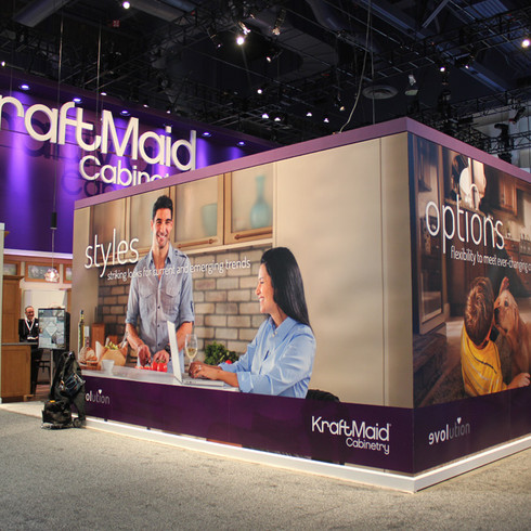 KraftMaid Cabinetry KBIS Booth Design