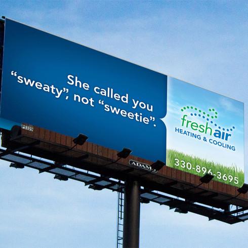 Fresh Air HVAC Billboard