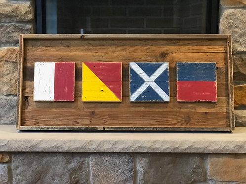 """HOME Nautical Flags - 36"""""""