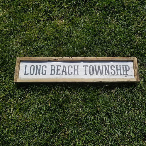 Single Town Name Sign