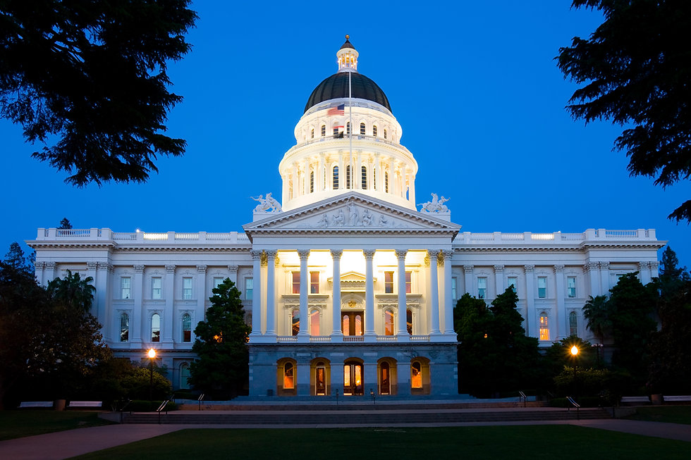 State Capitol Building in Sacramento at