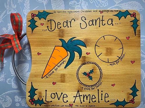 Wooden Personalised Santa Board