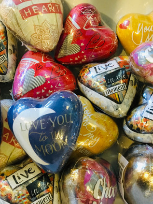 Love message hearts