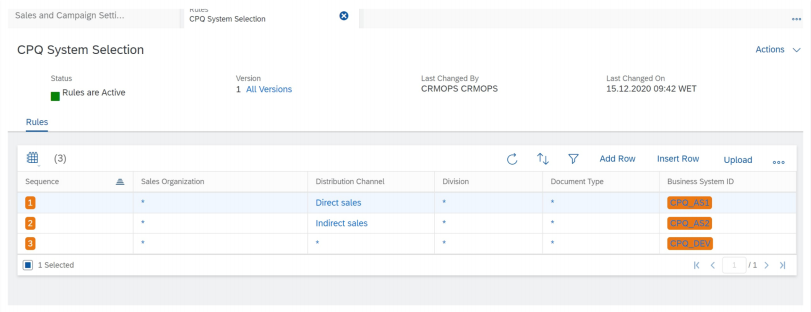 SAP C4C CPQ multiple tenants integration setup