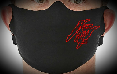 Red/Black Protective Face Mask