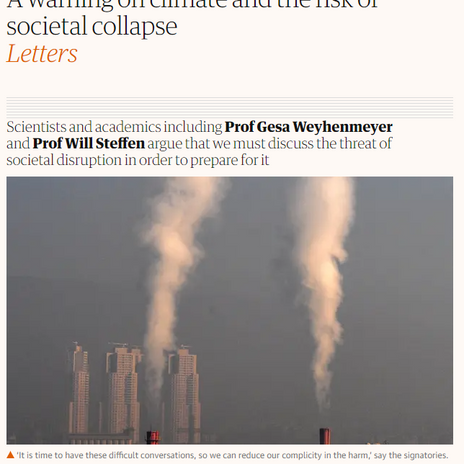 Collapse Discussion Going Mainstream