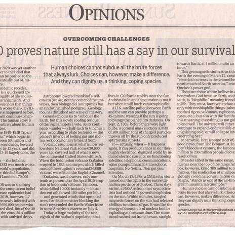 Conservative Commentator, Nature and a Benevolent God