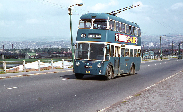 Bradford trolley bus illustrates use of electrification for public transport