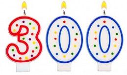 300-Year Birthday candles