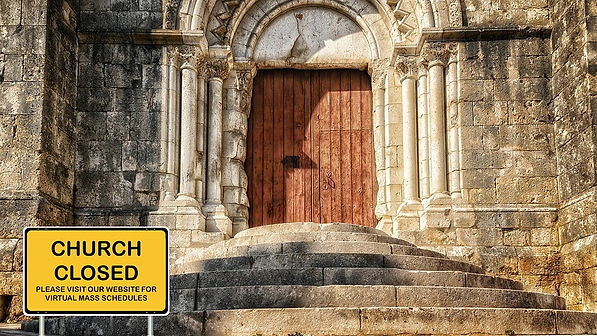 Closed church due to COVID-19