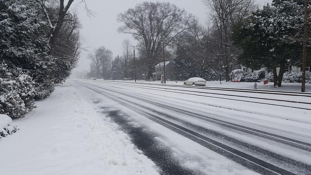 snow central virginia