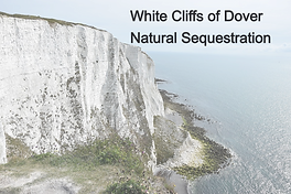 White cliffs of Dover natural carbon sequestration