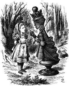 Red Queen in Alice in Wonderland