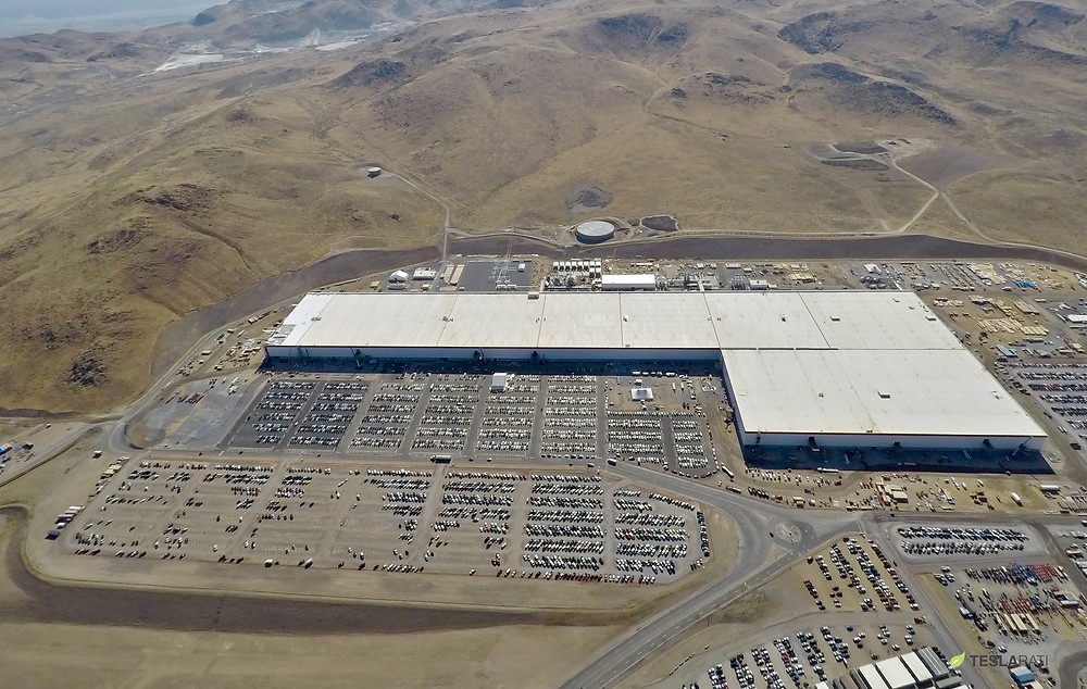 Gigafactory used to produce electric vehicles and batteries. It is large, but it meets only a tiny fraction of the world's need for energy storage capabilities.