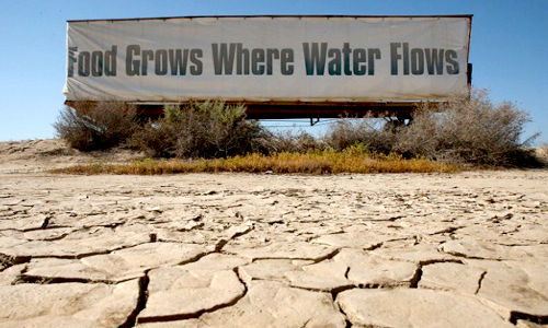 Drought caused by climate change