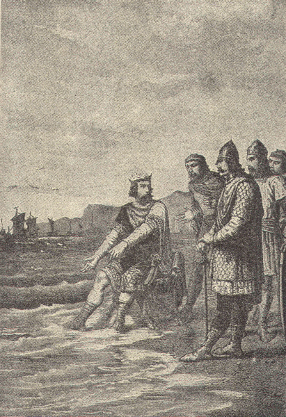 King Cnut/Canute was a powerful medieval king. However he understood the limits of his power. He demonstrated these limits by showing his courtiers that even he could not stop the waves of the sea from coming in.
