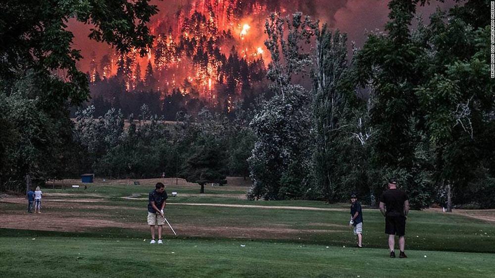 Parable about three golfers: a priest, a doctor and an engineer. Shows how people may react to climate change.