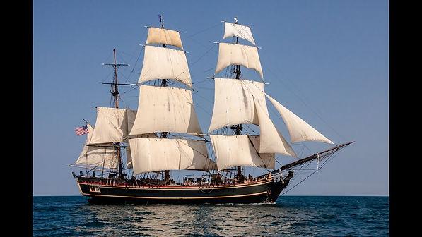 Sailing ship low-tech with hi-tech navigation and control