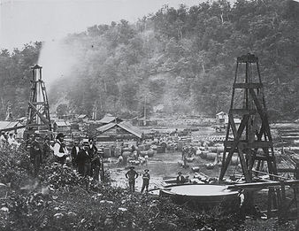 Early oil wells in Pennsylvania