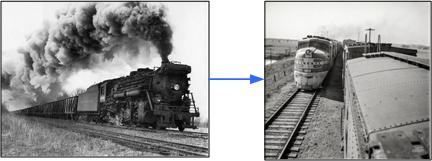 Transition from steam to diesel for U.S. railroads took three decades